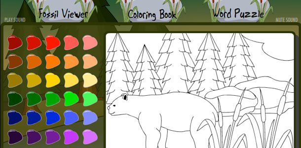 Natural History Museum Kids Microsite Coloring Book: Short-Faced Bear