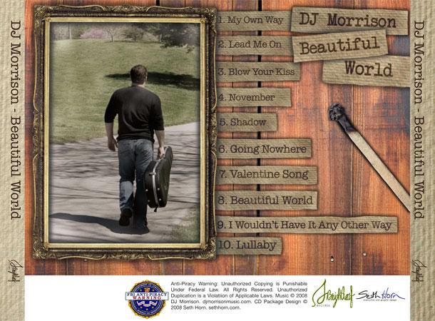 DJ Morrison Beautiful World Outside Tray Card