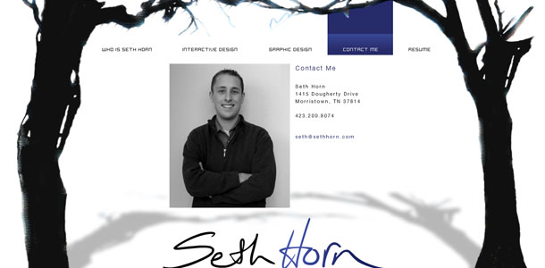 Seth Horn 2008 Contact Me Page