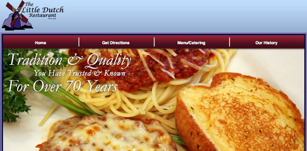 LittleDutchRestaurant.com Top Navigation