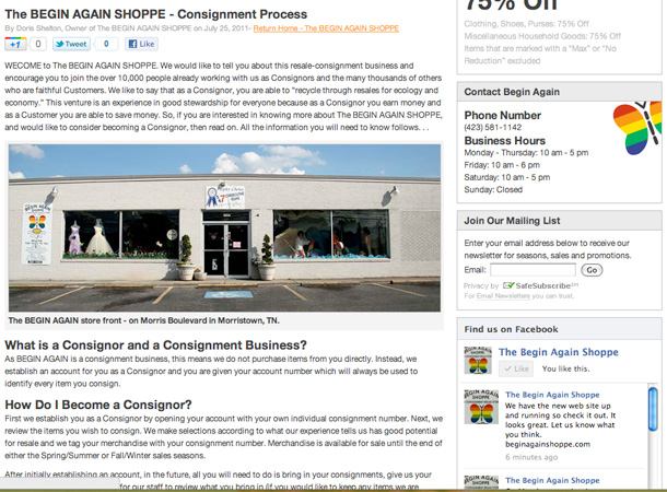 The BEGIN AGAIN SHOPPE v2.0 - Image 2